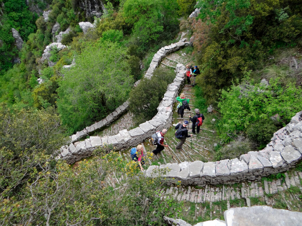 Trekking in Vikos Gorge, Epirus, Greece