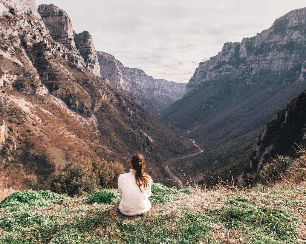 View towards Vikos Gorge, Epirus, Greece - Photo Christian Burri