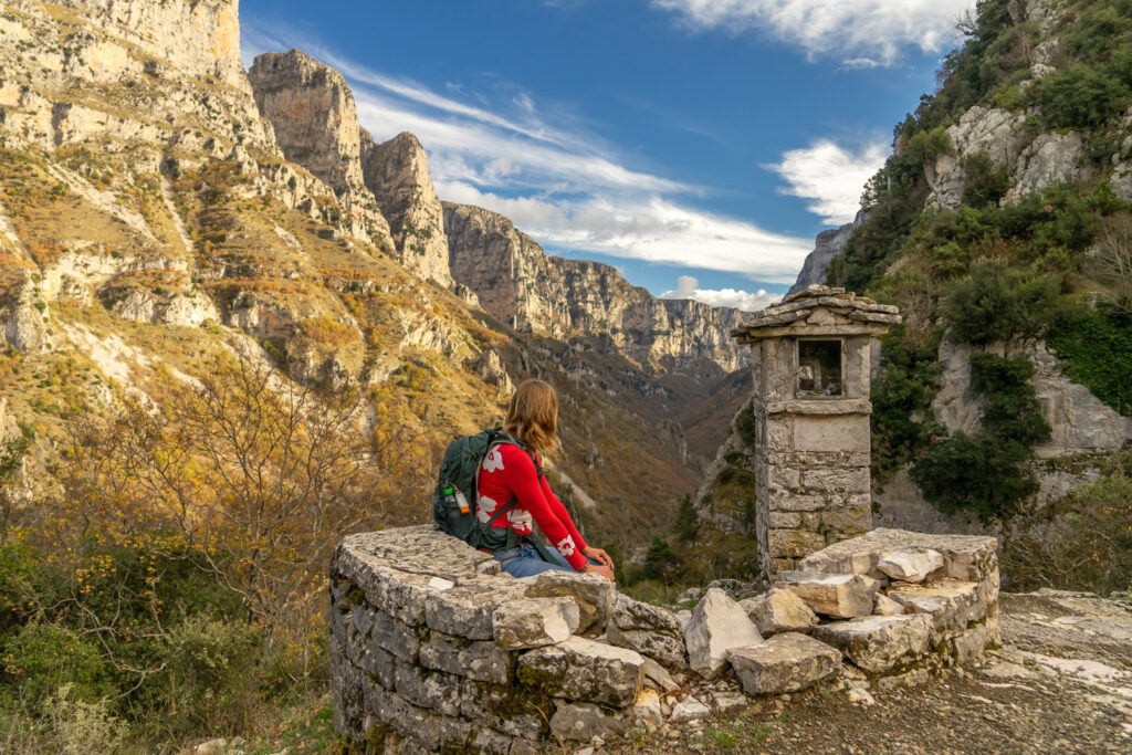 View towards Vikos Gorge, Epirus, Greece - Photo Jürgen Mager