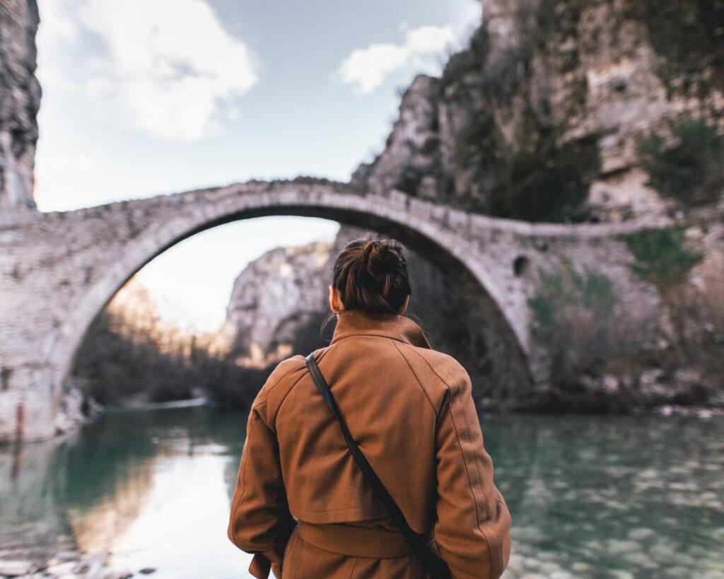 Zagori arched stone bridge in Epirus, Greece - Photo Christian