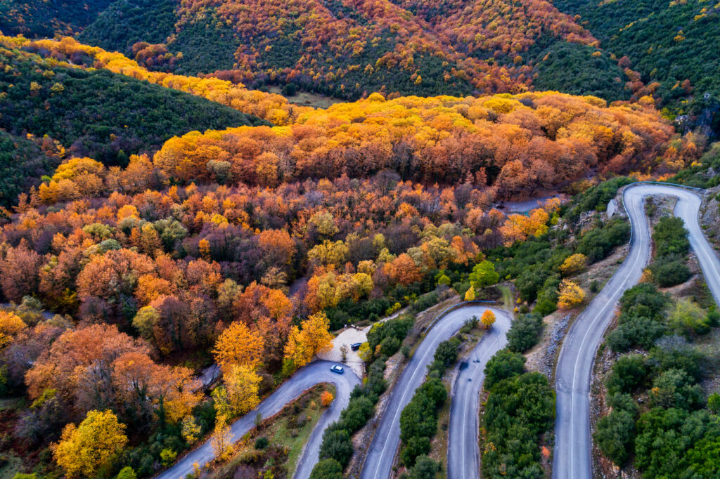 aerial-view-of-the-the-vikos-gorge-in-the-autumn-and-provincial-road-with-many-zigzag-in-the-epirus-greece