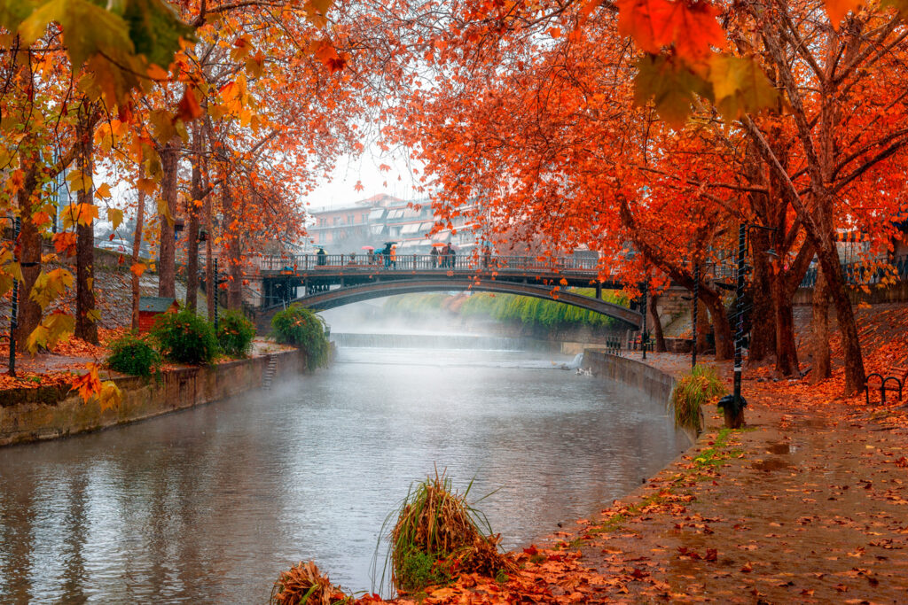 Autumn in Trikala city, Thessaly Greece