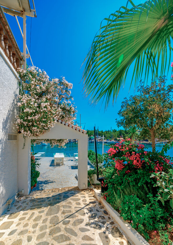 beautiful house by the sea in Spetses island in the Argo-saronic Gulf, Greece