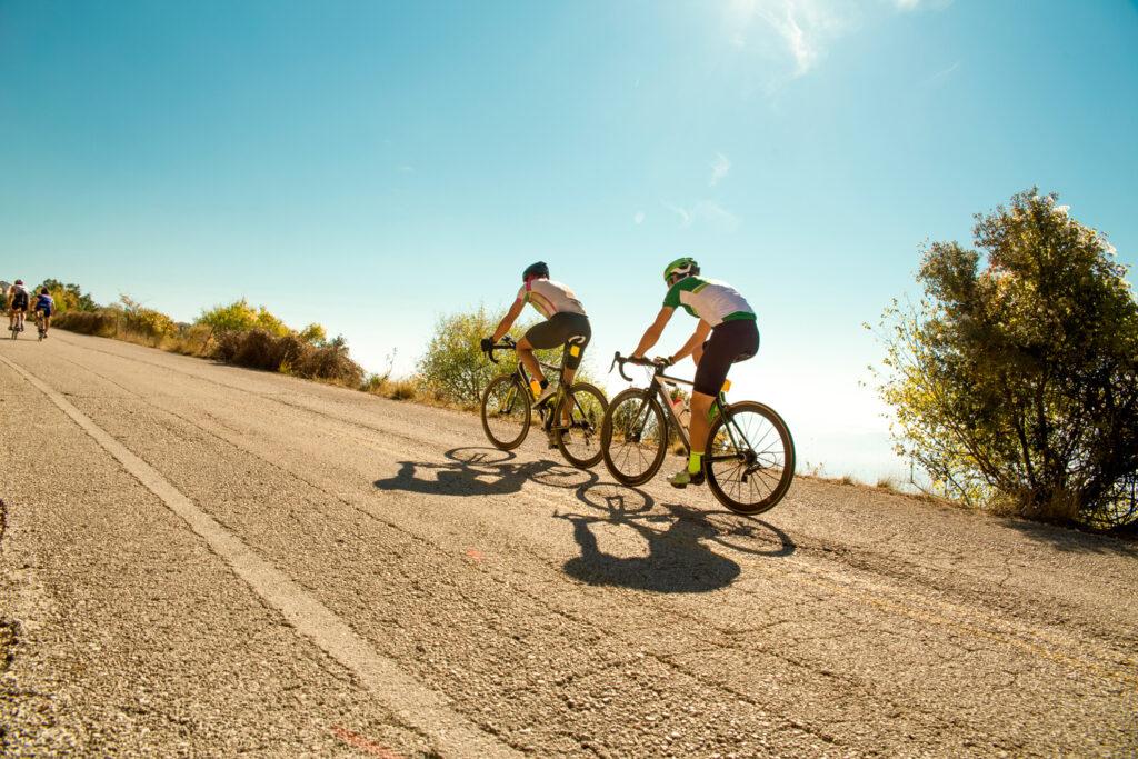 bike-race-in-the-morning-on-uphill-road-in-ioannina-city-greece