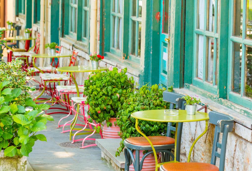 Coffee shop in Ioannina City, Epirus, Greece