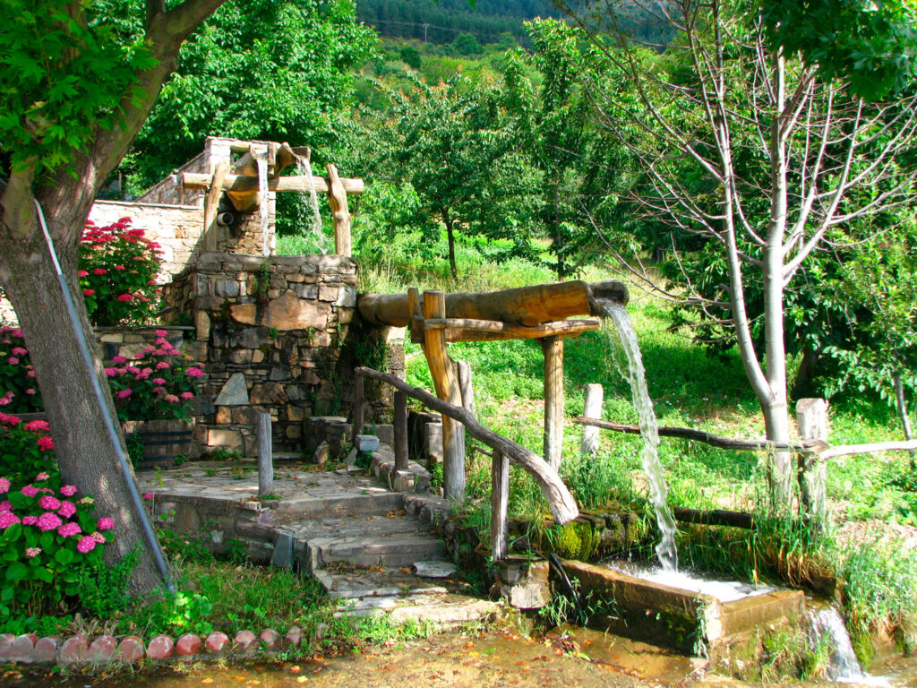 Stream in Chania village Pelion Greece