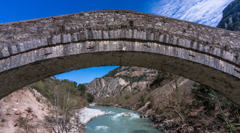 Rivers and bridges in Tzoumerka National Park, Epirus, Greece