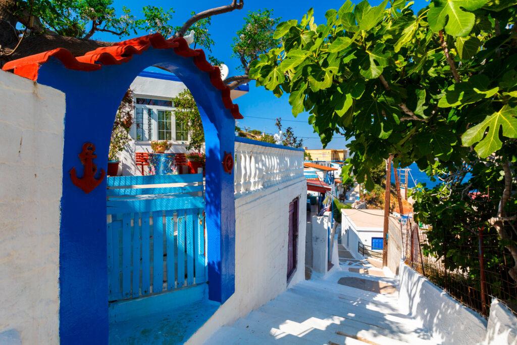 street-in-thymaina-village-in-fourni-korseon-greece