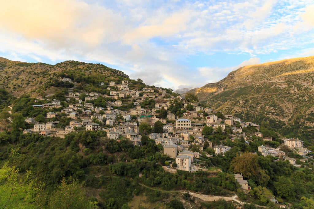 Syrrako village in North Tzoumerka, Epirus, Greece