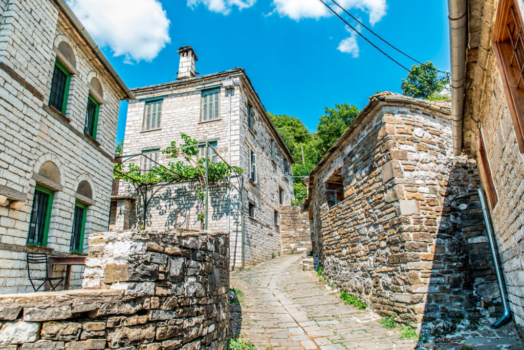 traditional-alley-in-mikro-papingo-village-in-ioannina-during-summer-greece