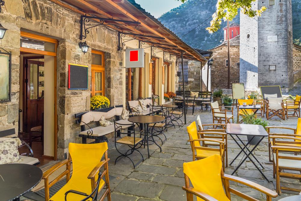 Traditional cafe in Tsepelovo village, Ioannina Zagoria Greece