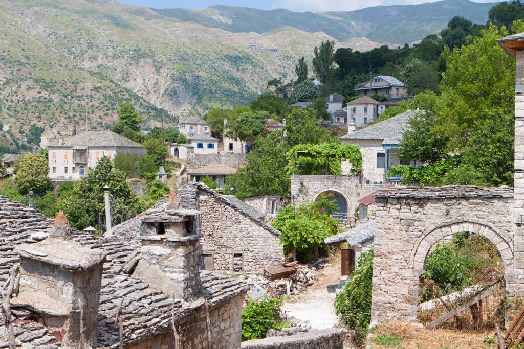 Traditional village of Kalarites in Tzoumerka, Pindus mountains, Epirus, Greece