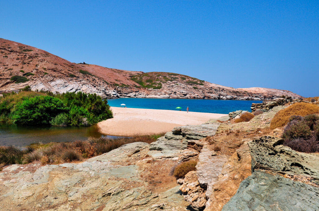 The amazing Vori Beach, Andros, Cyclades, Greece