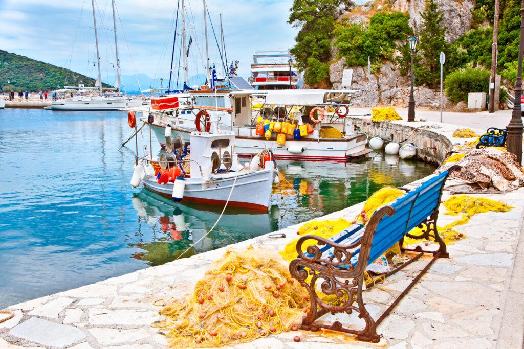 Eco village in Ithaca island, Ionian Sea Greece