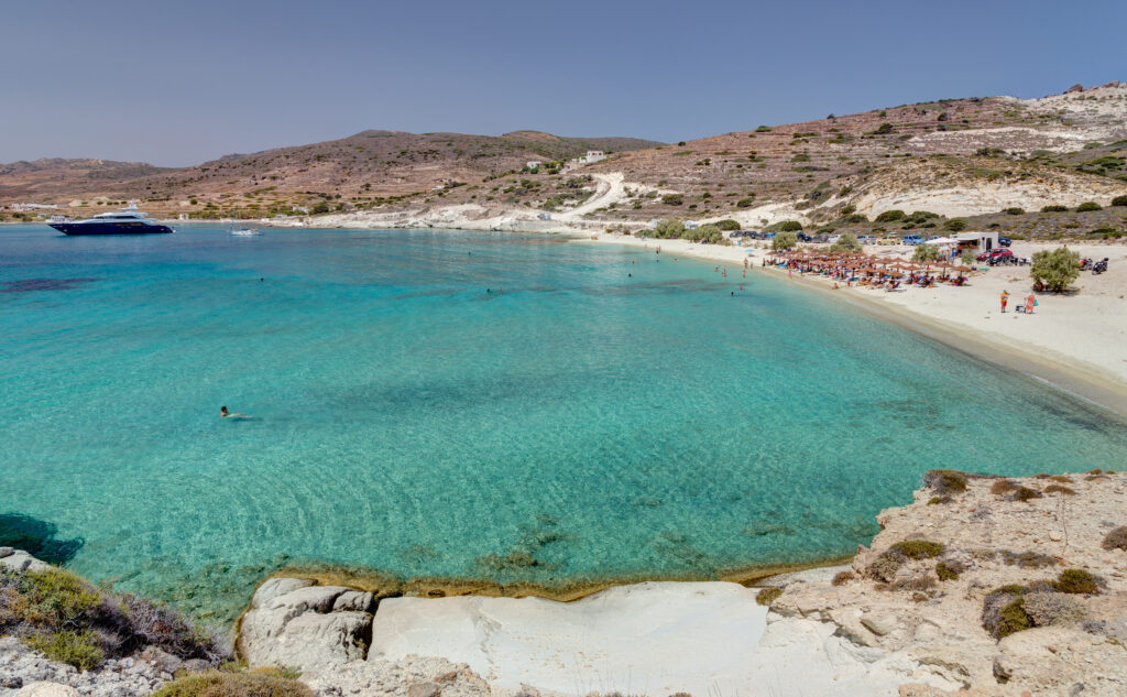 Prassa beach Kimolos island, Cyclades Greece