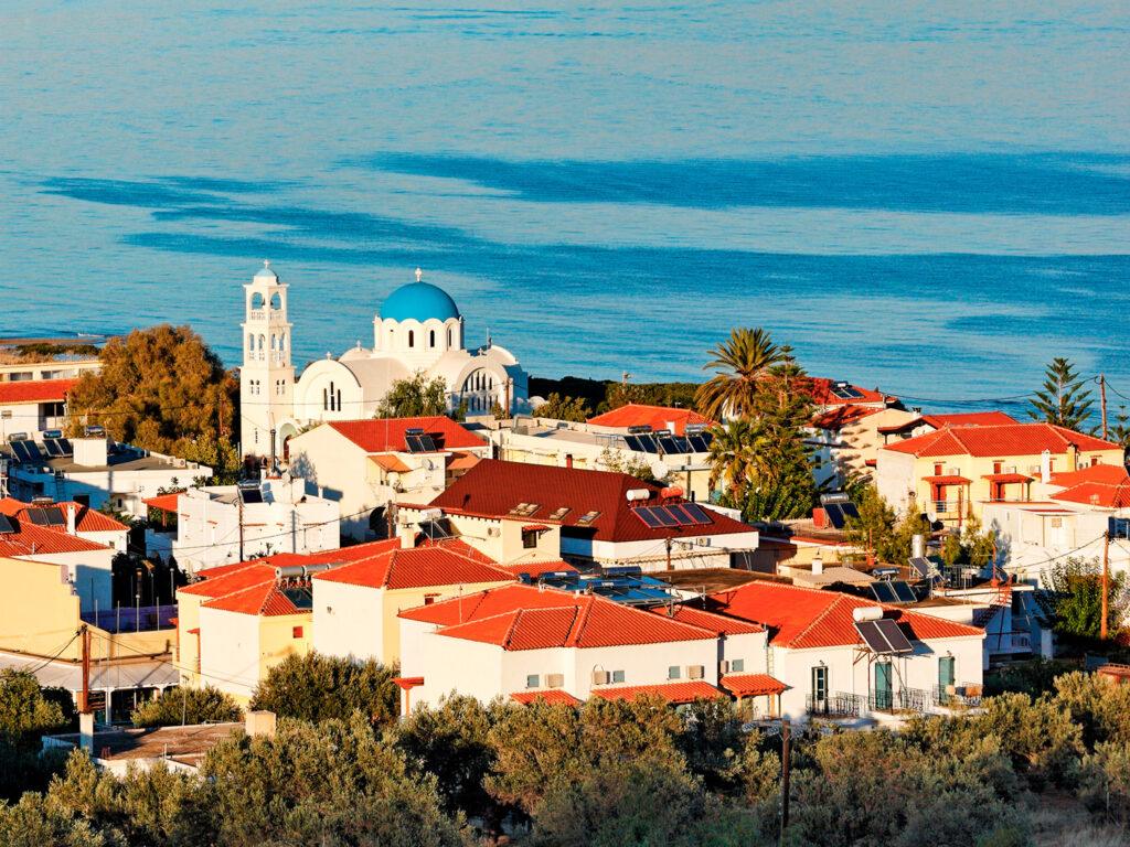 Skala port of Agistri island, Saronic Gulf Greece