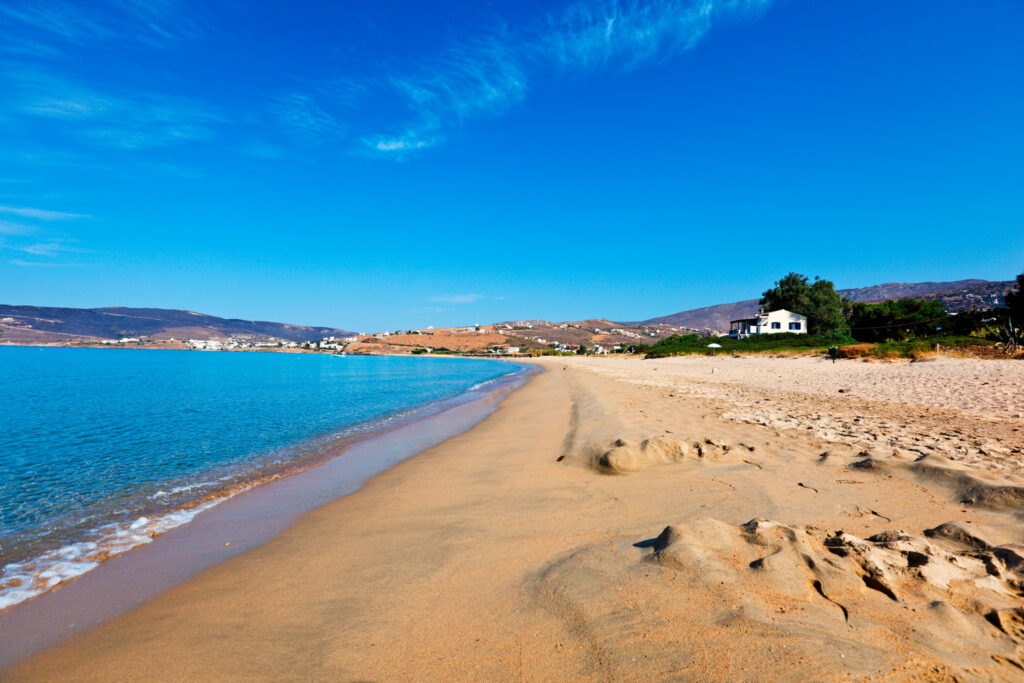 St. Peters beach (Agios Petros beach) in Andros, Cyclades, Greece
