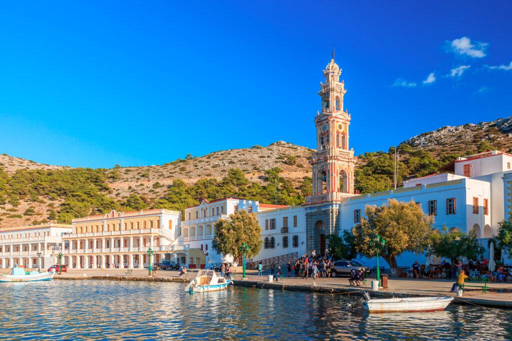 The Monastery of Panormitis, Symi island, Dodecanese Greece