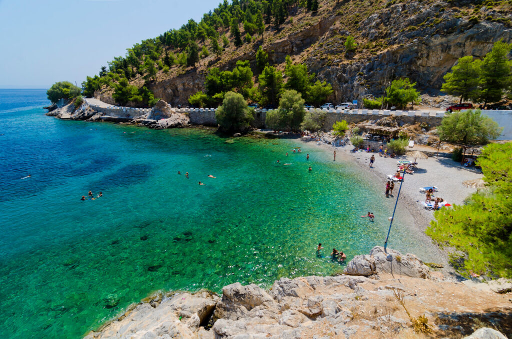 Therma beach in Kalymnos island, Dodecanese Greece