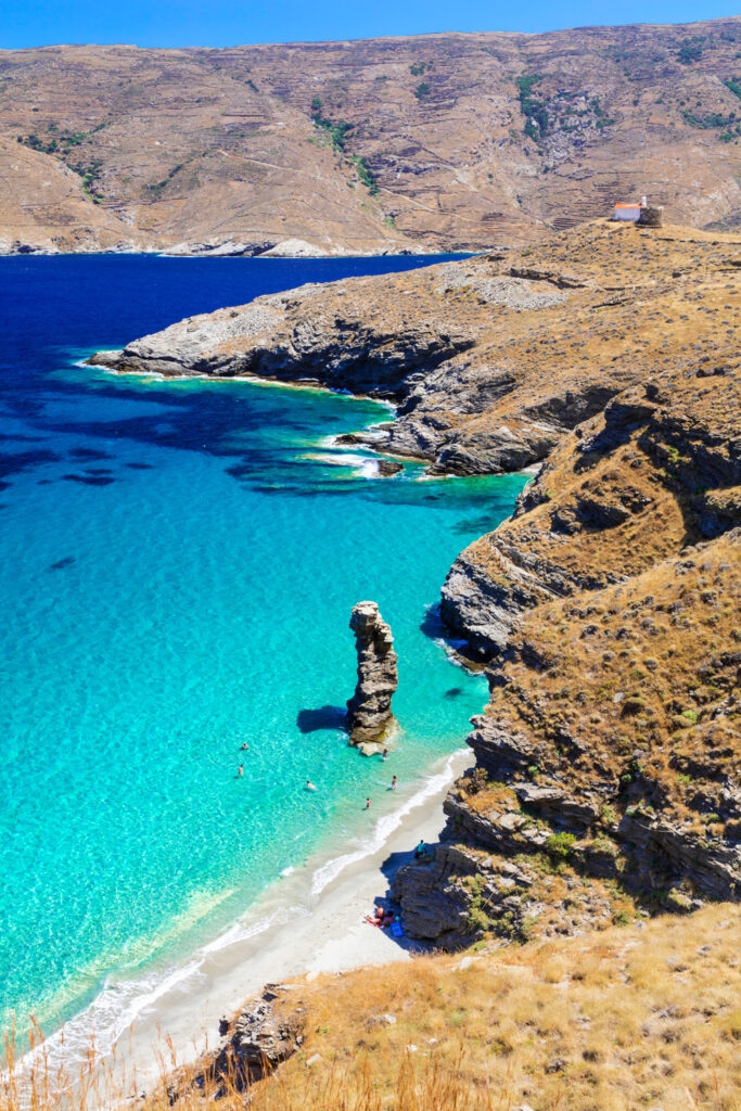 Beach of Tis Grias to Pidima, Andros, Cyclades, Greece