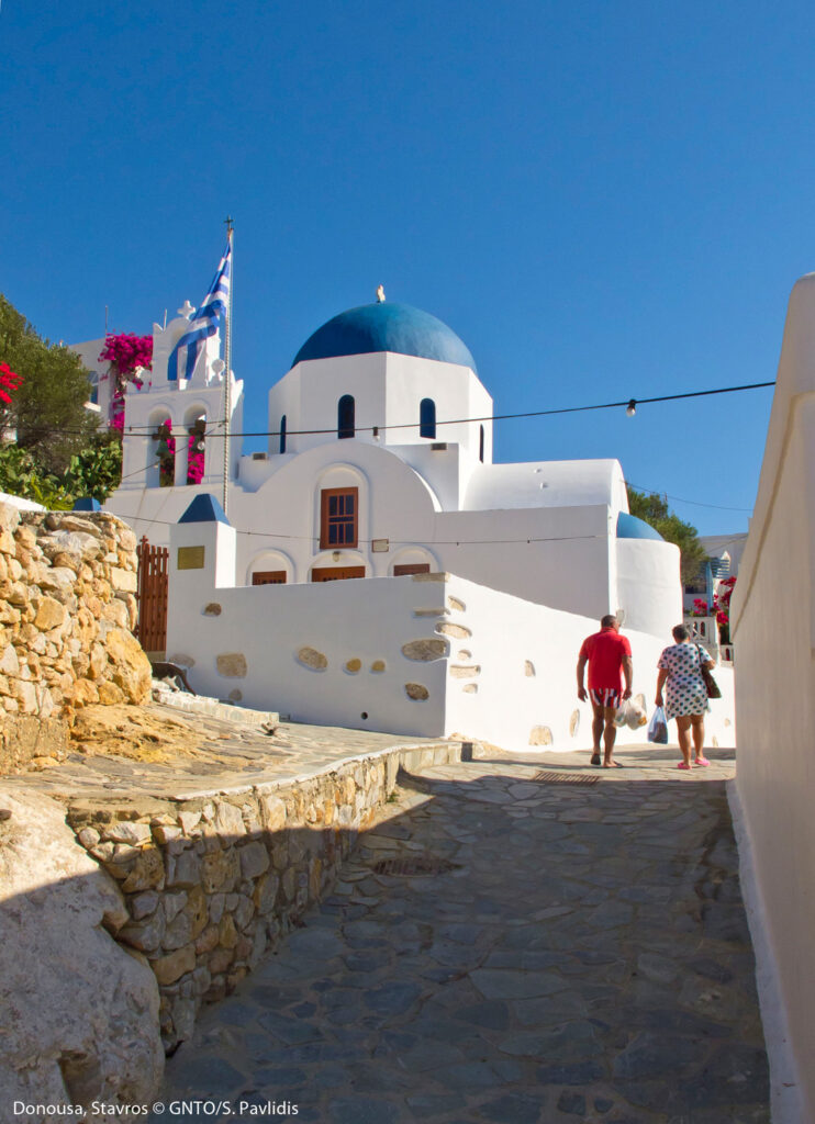 The church in Stavros or Chora of Donoussa - Photo by S. Pavlidis