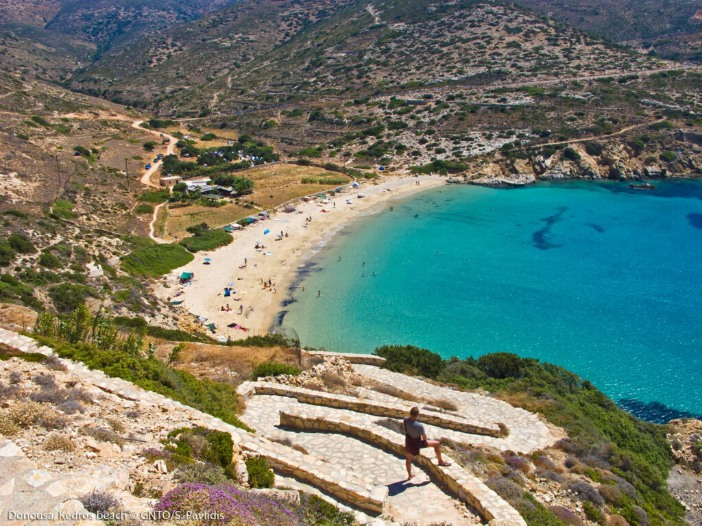 Kedros beach, Donousa, one of the Smaller Cyclades Greece - Photo by S. Pavlidis