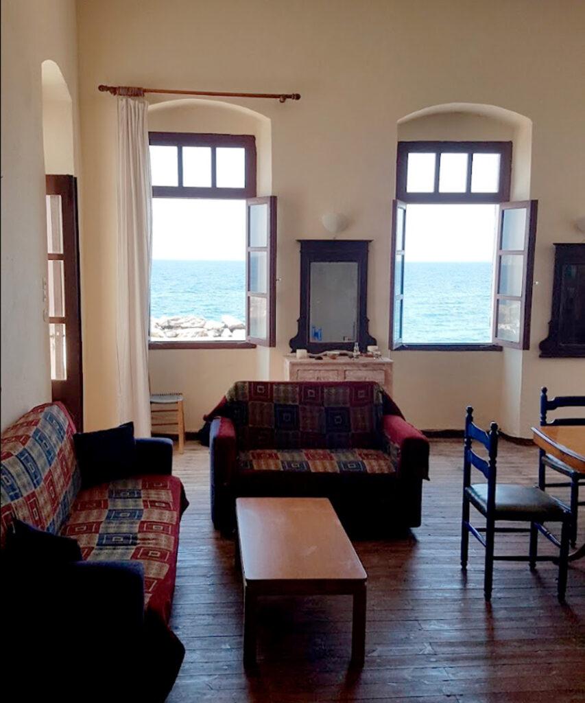 Iamatika Loutra Nisyrou - lounge, Dodecanese Greece