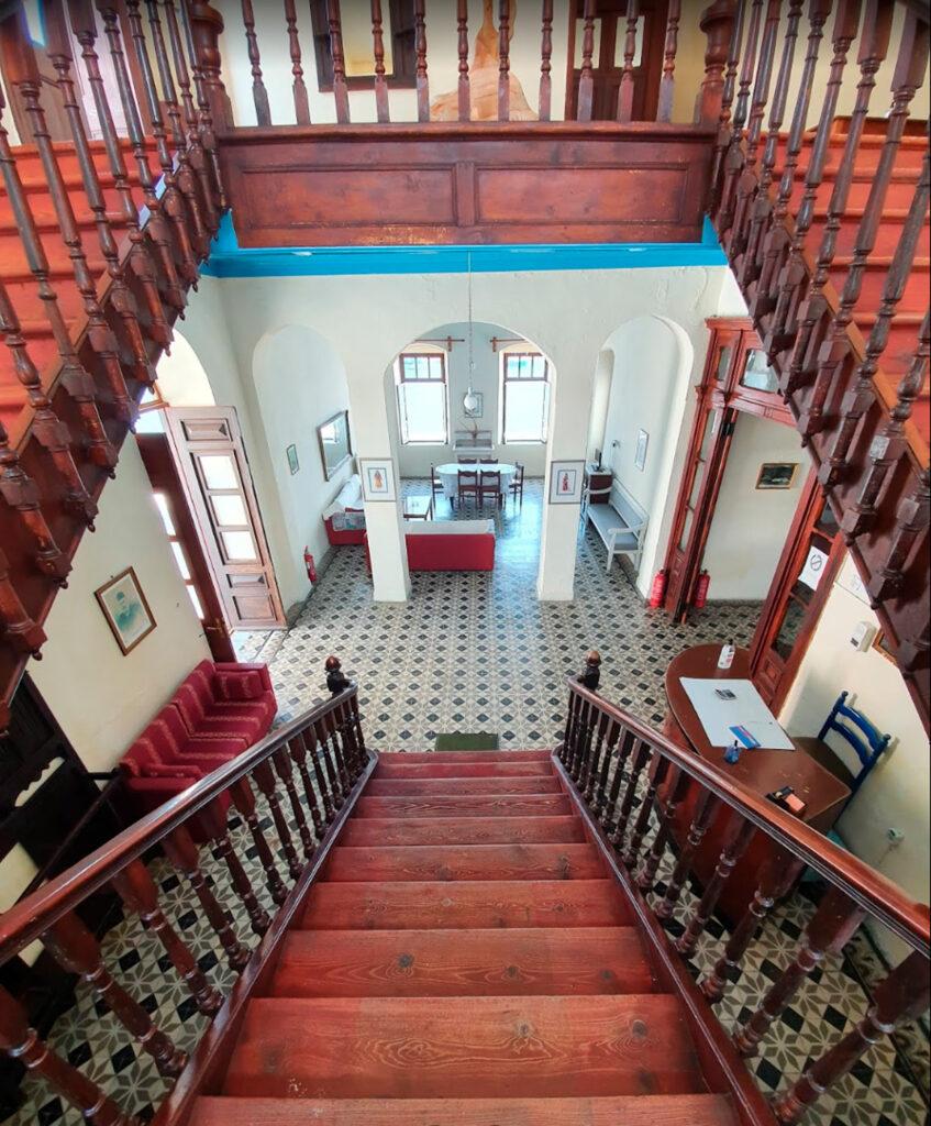 Iamatika Loutra Nisyrou - staircase, Dodecanese Greece