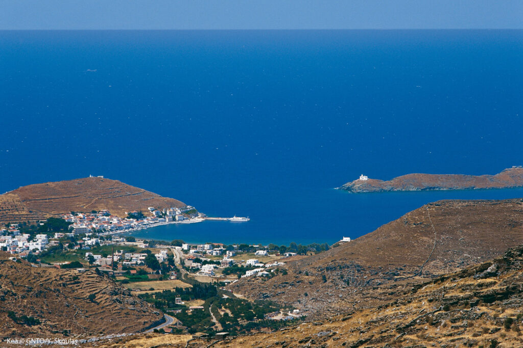 Overview of Kea island, Cyclades Greece - Photo by Y. Skoulas