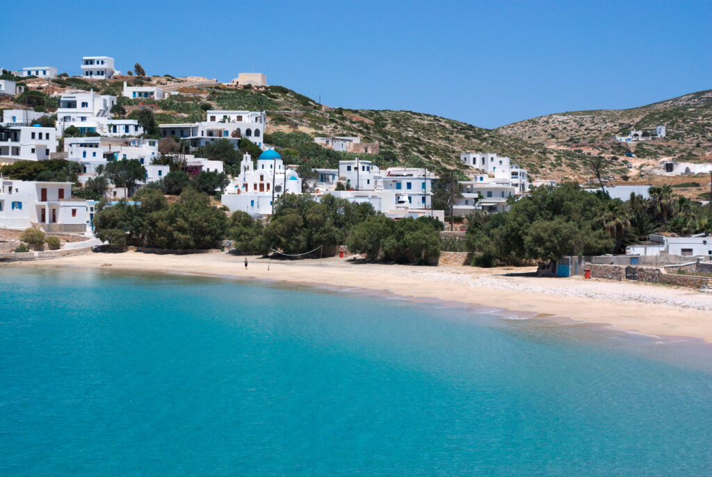 Stavros or Chora in Donoussa island, Lesser Cyclades Greece
