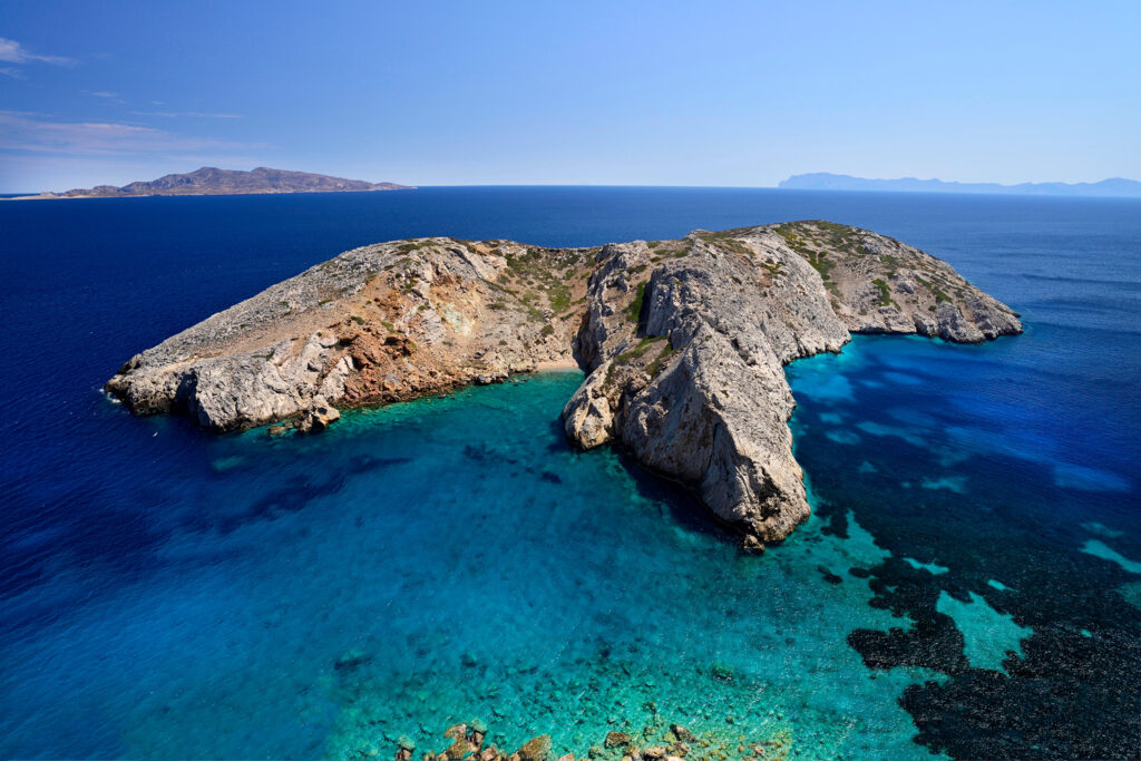Islet of Prasini, Makares Archipelago, near Donoussa island, Smaller Cyclades Greece