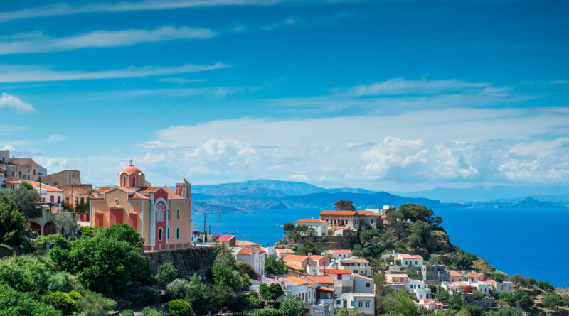 Cityscape of Kea island, Cyclades Greece