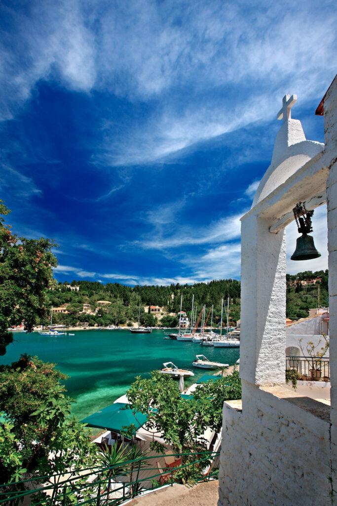 Lakka Bay and village, Paxos island, Ionian Sea Greece
