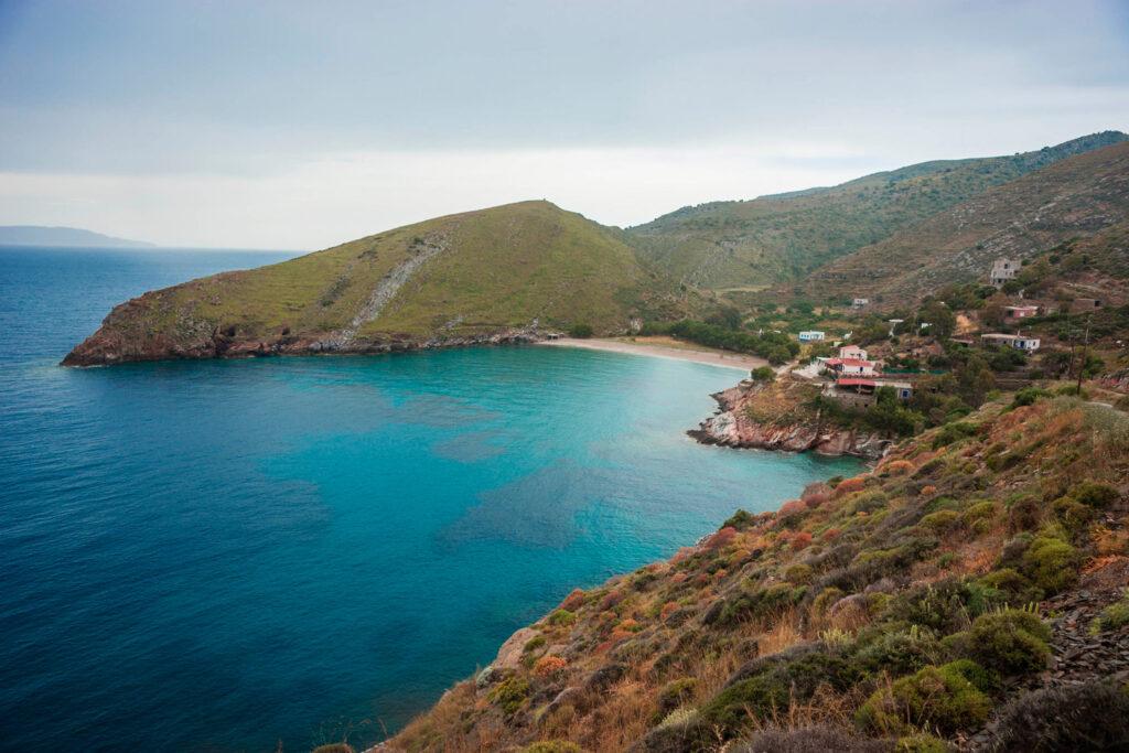 Picturesque landscape in Kea island, Cyclades Greece
