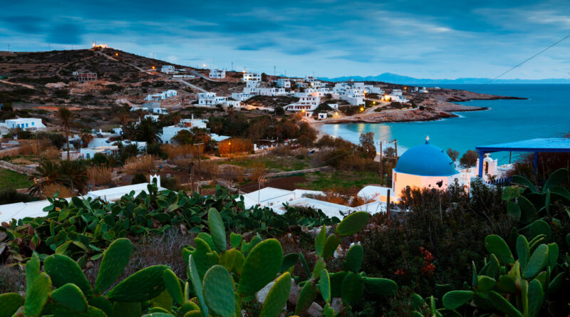Stavros village in Donousa island, Smaller Cyclades Greece