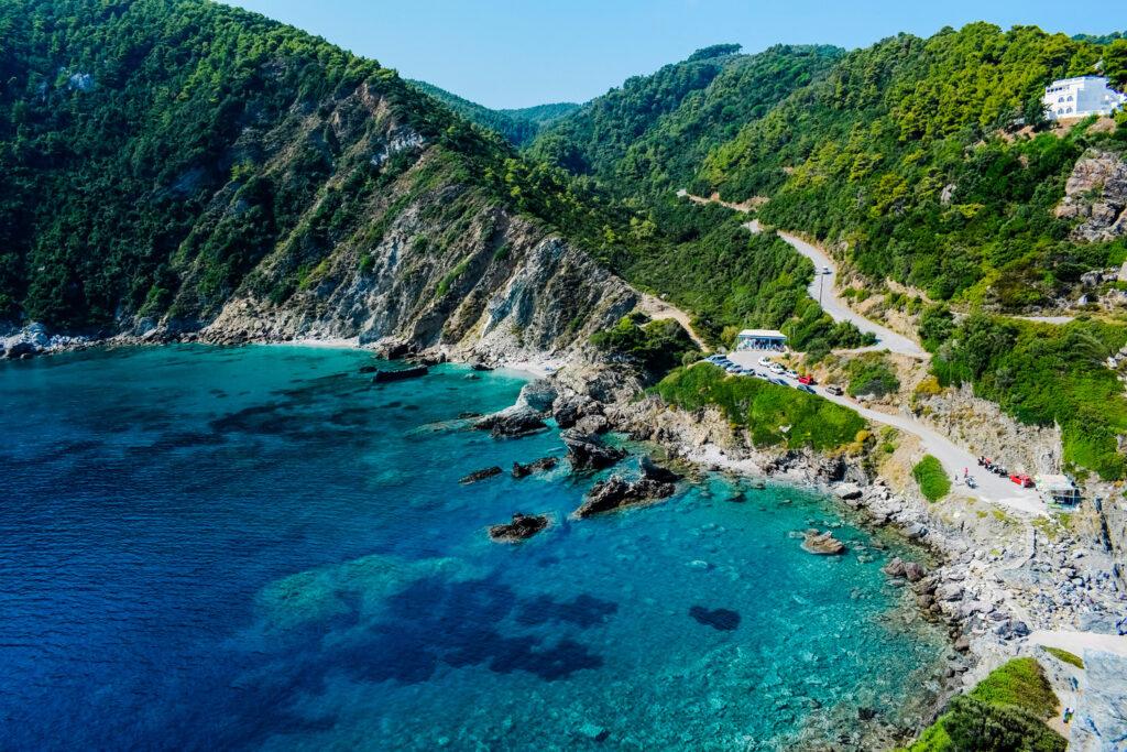 Coast at Kastri Islet in Skopelos, Sporades Greece - Photo by Dimitris Vetsikas
