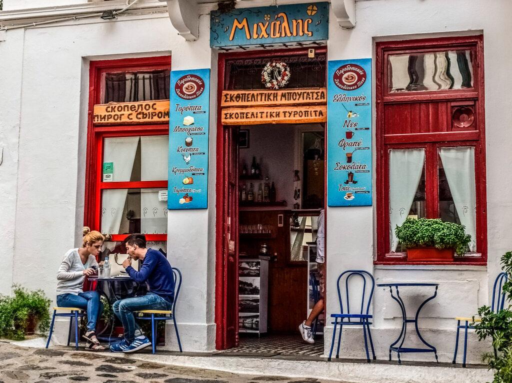 Coffeeshop in Chora Skopelos, Sporades Greece - Photo by Dimitris Vetsikas
