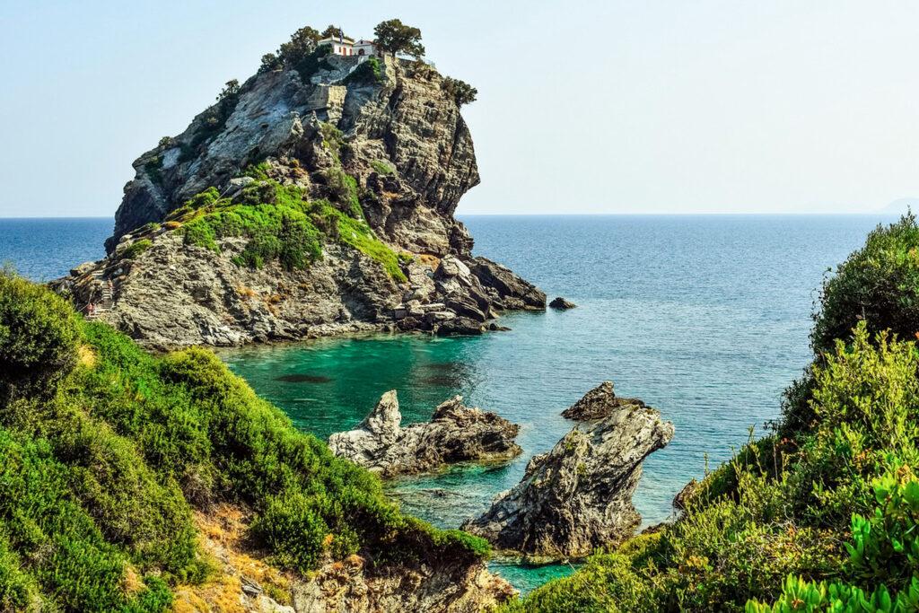 Kastri Islet in Skopelos, Sporades Greece - Photo by Dimitris Vetsikas