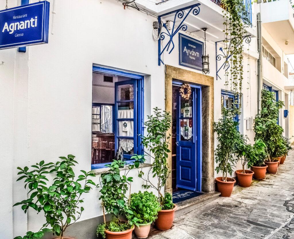 Restaurant in Chora Skopelos, Sporades Greece - Photo by Dimitris Vetsikas
