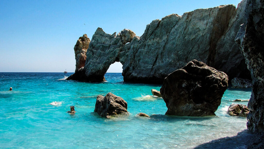 Sea Caves in Skiathos, Sporades Greece