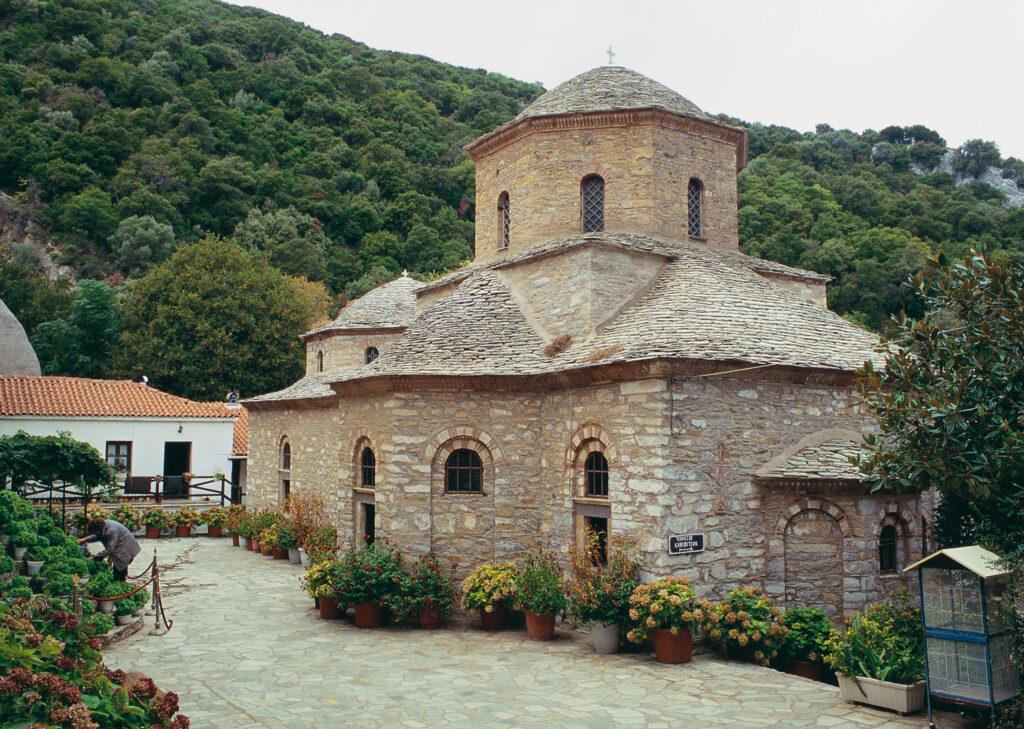 Monastery of Panagia Evangelistria, Skiathos, Sporades Greece