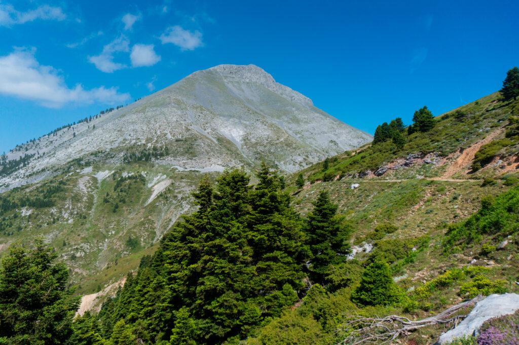 View of Dirfi mountain in Euboea in Greece