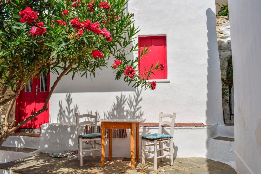 Yard in Chora Skopelos, Sporades Greece - Photo by Dimitris Vetsikas