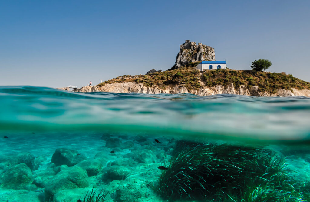 Kastri Islet near Kefalos village in Kos, Dodecanese Greece