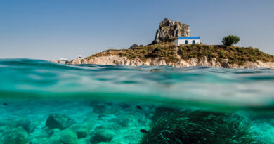 Kastri Islet near Kefalos village in Kos, Dodecanese Greece