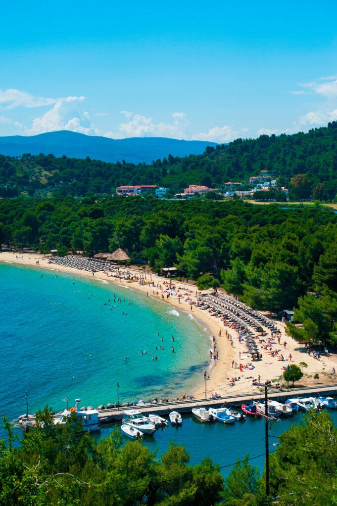 Koukounaries beach in Skiathos, Sporades Greece