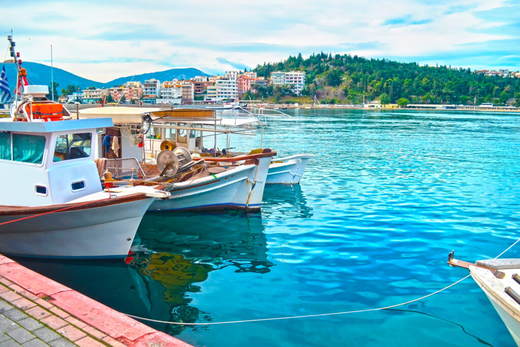 Fishing port at Chalkida in Evia Greece