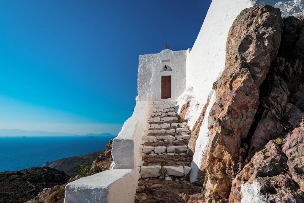 Monastery of Prophet Elias in Patmos, Dodecanese Greece