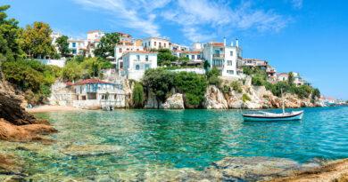 Skiathos old port, Skiathos, Sporades Greece