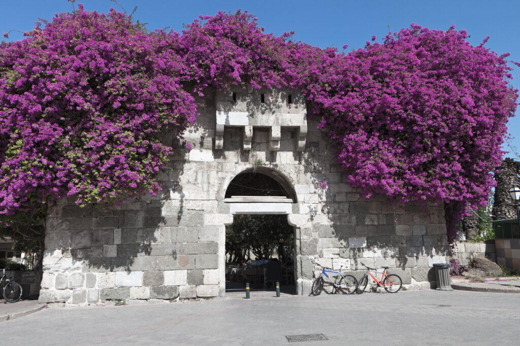 The ancient gate of the Greek / Roman city in Kos, Dodecanese Greece
